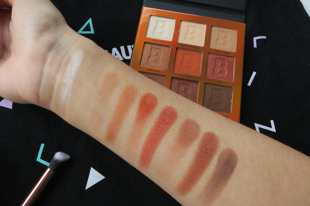 Swatches Beauty Bay palette